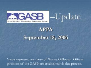APPA September 18, 2006
