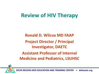 Review of HIV Therapy