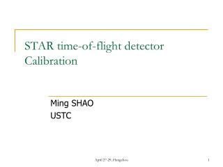 STAR time-of-flight detector Calibration