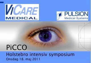 PiCCO Holstebro intensiv symposium Onsdag 18. maj 2011