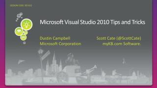 Microsoft Visual Studio 2010 Tips and Tricks