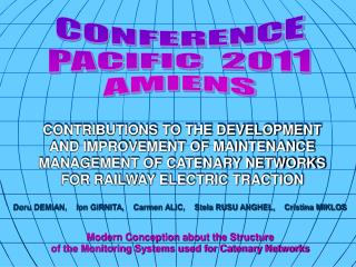 CONFERENCE PACIFIC  2011 AMIENS