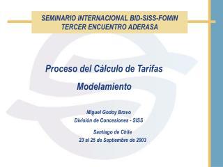 Santiago de Chile 23 al 25 de Septiembre de 2003