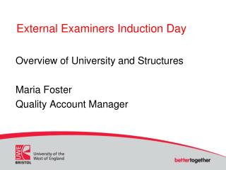 External Examiners Induction Day