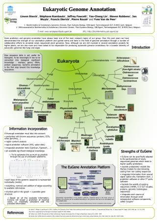 Eukaryotic Genome Annotation