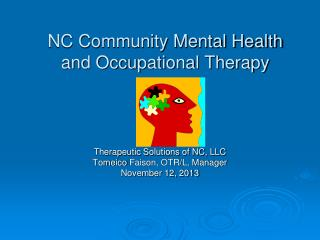 NC Community Mental Health and Occupational Therapy