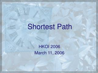 Shortest Path