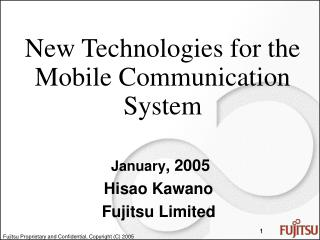 New Technologies for the Mobile Communication System