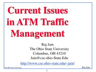 Current Issues in ATM Traffic Management