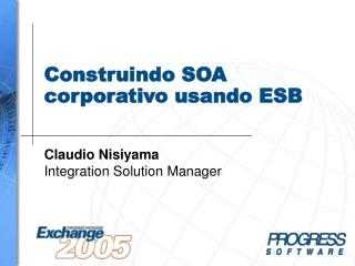 Construindo SOA corporativo usando ESB