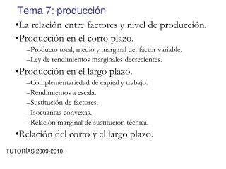 Tema 7: producción