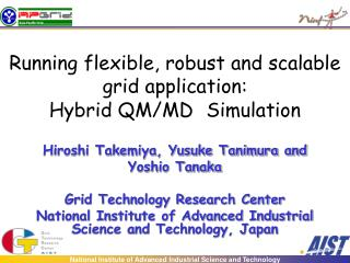 Running flexible, robust and scalable grid application:  Hybrid QM/MD Simulation