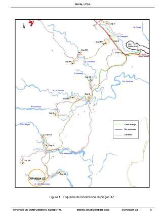Figura 1.  Esquema de localizaci�n Cupiagua XZ