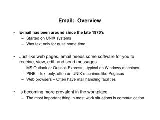 Email:  Overview