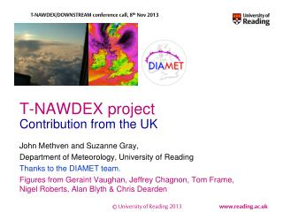 T-NAWDEX project Contribution from the UK