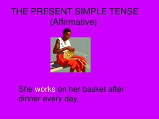 THE PRESENT SIMPLE TENSE Affirmative