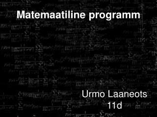Matemaatiline programm