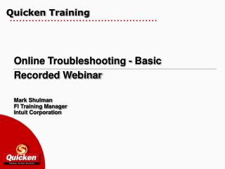 Quicken Training