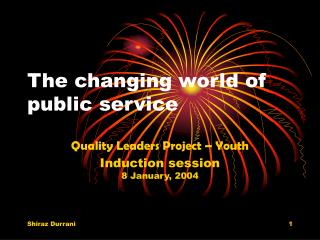 The changing world of public service