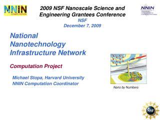 National Nanotechnology Infrastructure Network
