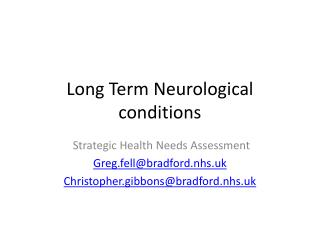 Long Term Neurological conditions