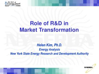 Role of R&D in  Market Transformation