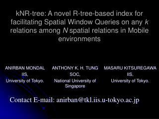 ANIRBAN MONDAL IIS,   University of Tokyo.