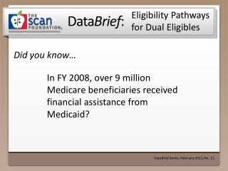Eligibility Pathways for Dual  Eligibles