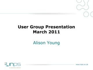 User Group Presentation March 2011