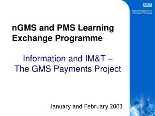 nGMS and PMS Learning Exchange Programme