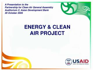 ENERGY & CLEAN  AIR PROJECT