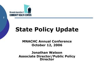 State Policy Update