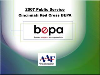 2007 Public Service Cincinnati Red Cross BEPA