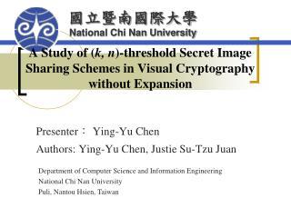 Presenter :  Ying-Yu Chen Authors: Ying-Yu Chen, Justie Su-Tzu Juan