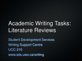 Academic Writing Tasks: Literature Reviews