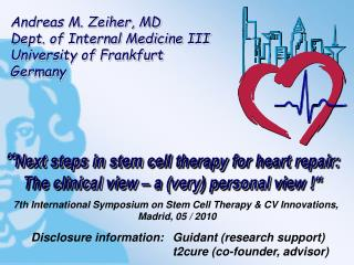 � Next  steps  in  stem cell therapy for heart repair :
