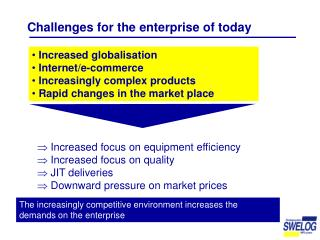 Challenges for the enterprise of today