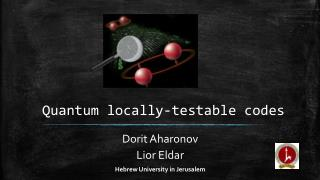 Quantum locally-testable codes