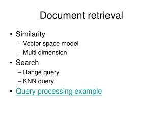 Document retrieval