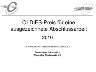 OLDIES-Preis für eine ausgezeichnete Abschlussarbeit