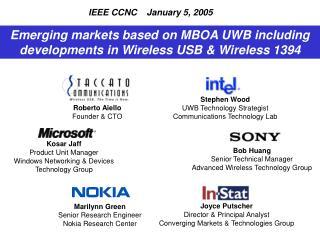 Stephen Wood UWB Technology Strategist Communications Technology Lab