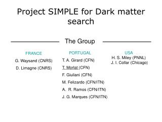 Project SIMPLE for Dark matter search
