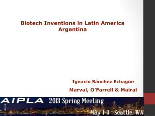 Biotech Inventions in Latin America Argentina