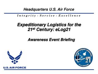Expeditionary Logistics for the 21 st  Century: eLog21