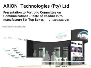 ARION  Technologies (Pty) Ltd
