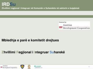 IRD Su Zhvillimi regjional i Integruar në Komunën e Suharekës në sektorin e bujqësisë