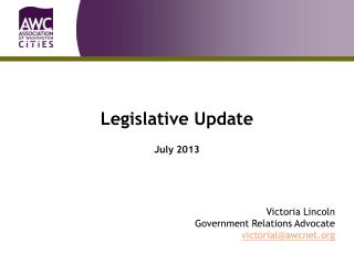 Legislative Update July 2013