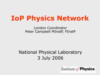 IoP Physics Network