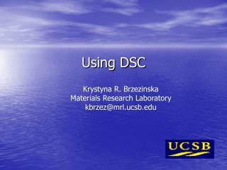 Using DSC