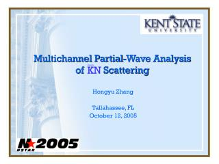 Multichannel Partial-Wave Analysis of        Scattering